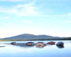 Pleasant Lake with Boats
