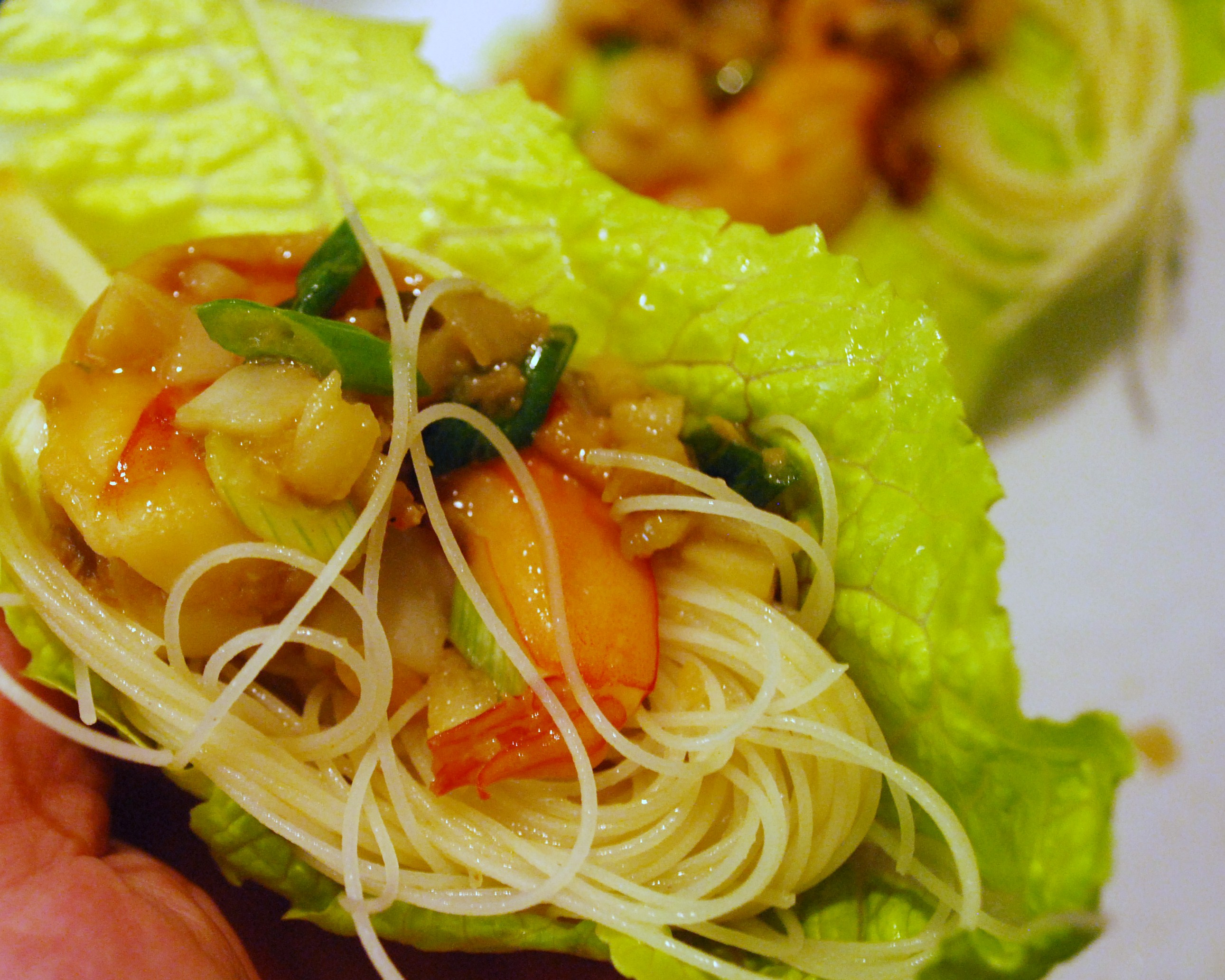 ... Lettuce Cups with Shrimp & Noodles | Susan Nye – Around the Table