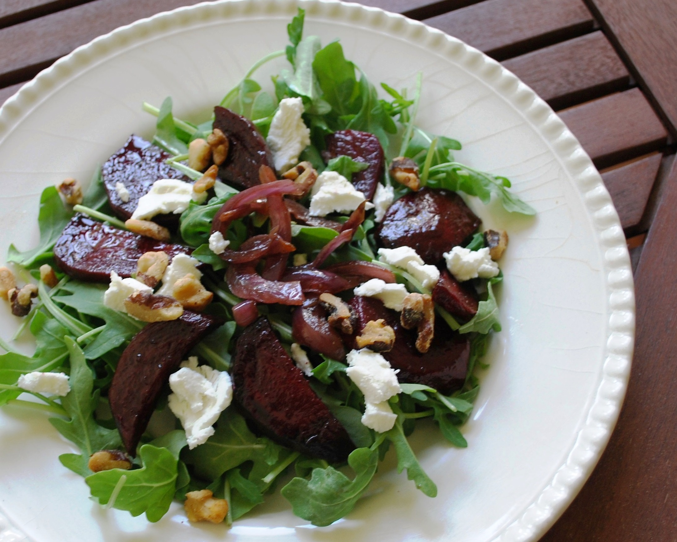 Summer Salad Days & Roasted Beets with Goat Cheese Salad | Susan Nye ...